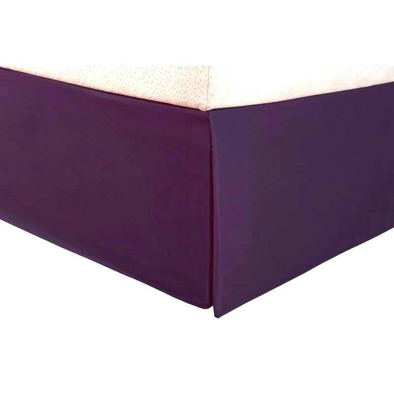 Purple Bed Skirt - AanyaLinen