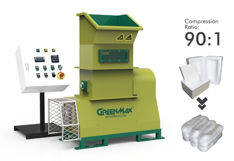 Styrofoam recycling machine GREENMAX  Mars C50
