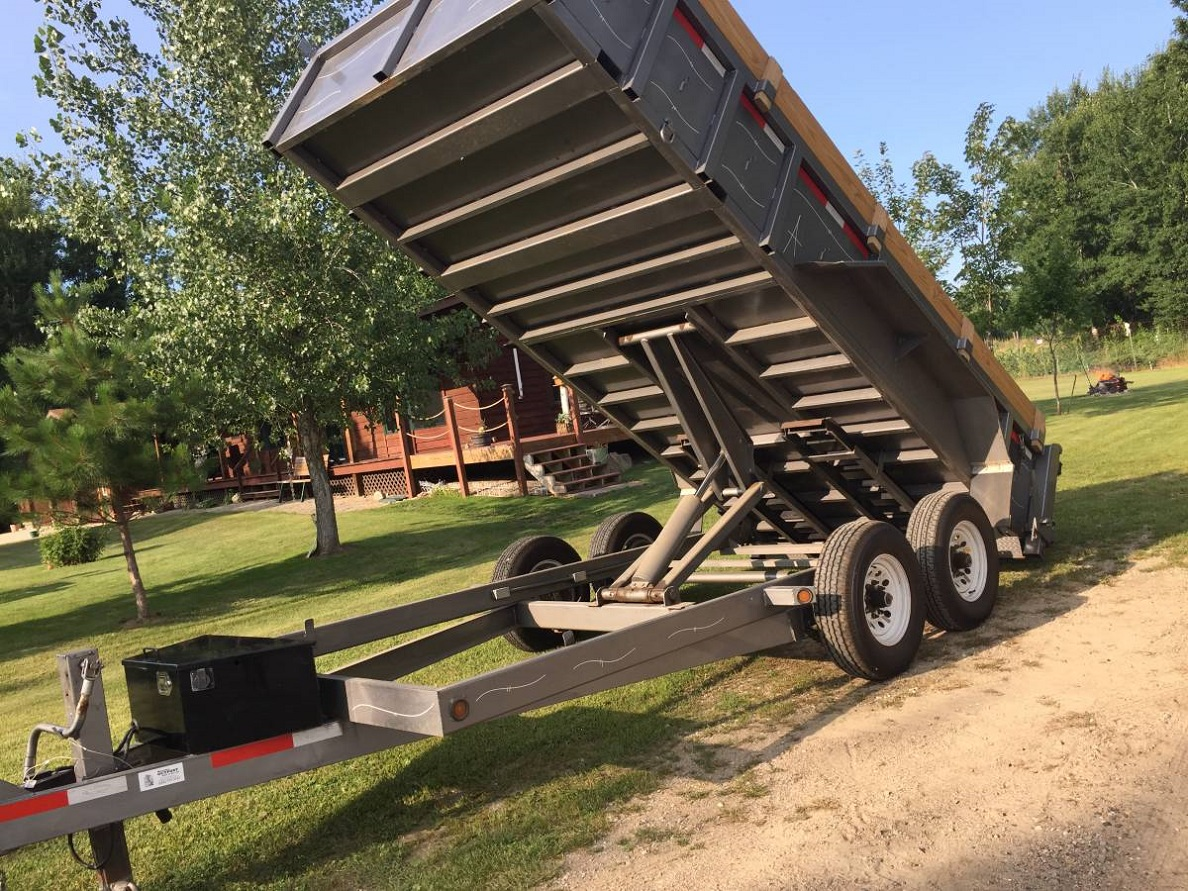 Axle is in good condition 2016 ABU Low Profile Dump Trailer 6x16