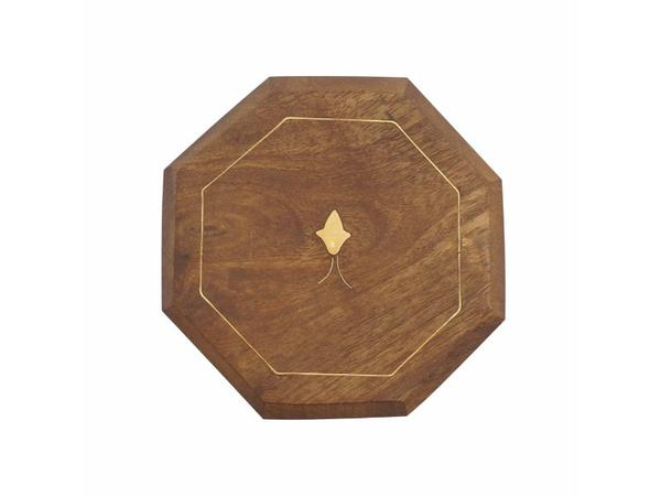 Wooden Coasters with Brass Inlay, Set of 6 | Artisanal Creations
