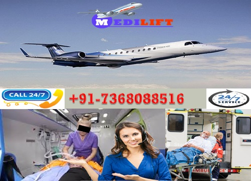 Get ICU Support Medilift Air Ambulance Service in Shillong