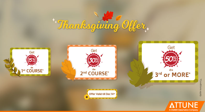 Limited time offer - Thanksgiving Offer on Online Training for all courses : http://bit.ly/2RWHdVH