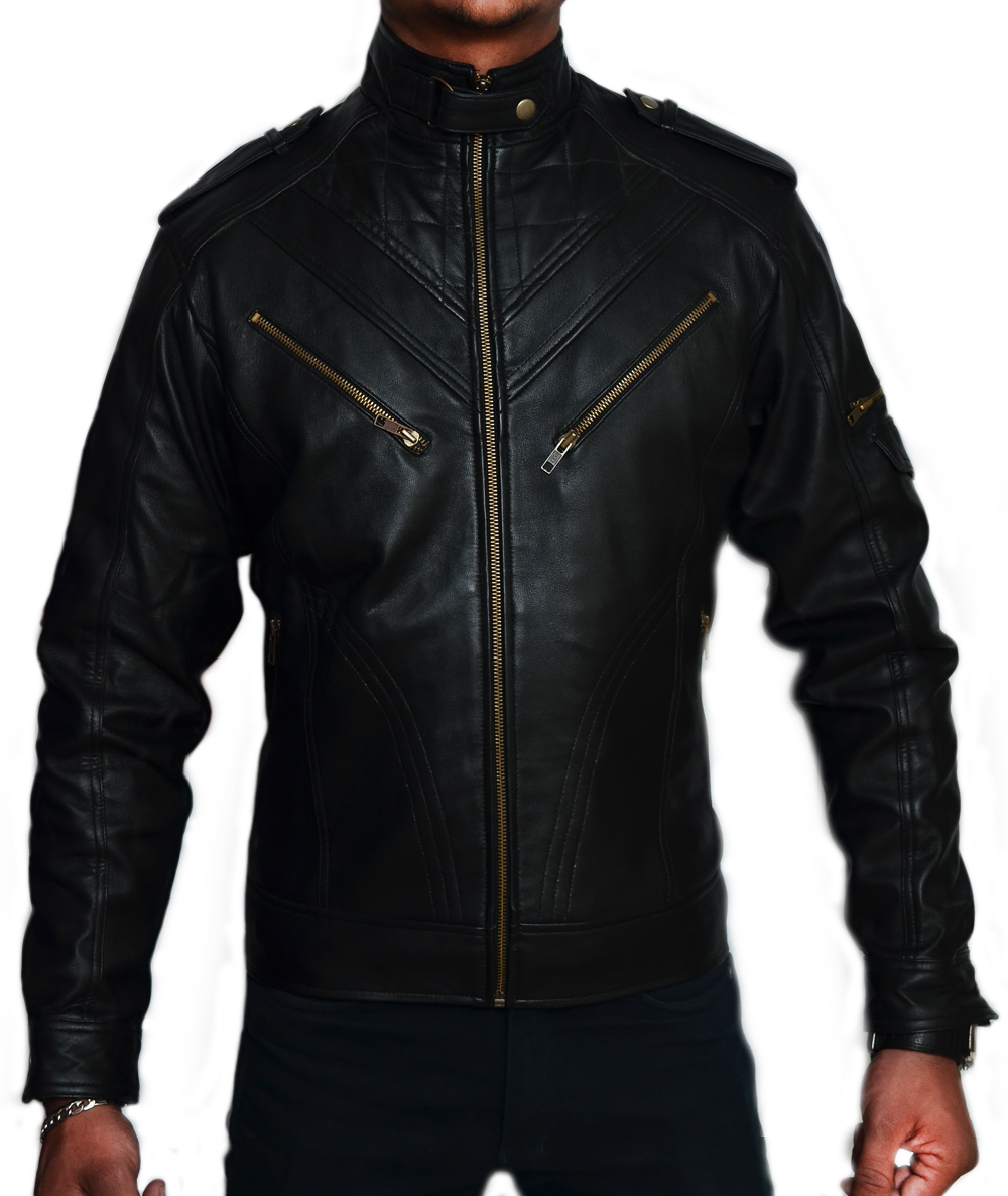 Retro Bomber Nitro Wing SlimFit Biker Leather Jacket