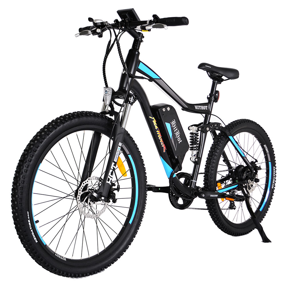 Addmotor HITHOT Mountain Electric Bicycle 500W 10.4AH 27.5 Inch Tire Full Suspension Sport E-Bike H1
