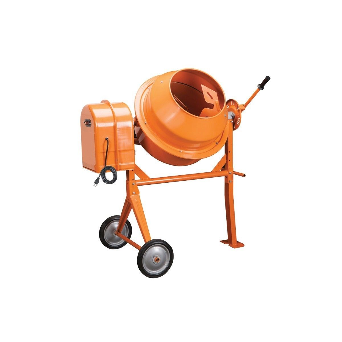 3-1/2 Cubic Ft. Portable Solid Steel Cement Mixer - Stucco/Mortar & Mixing Feed