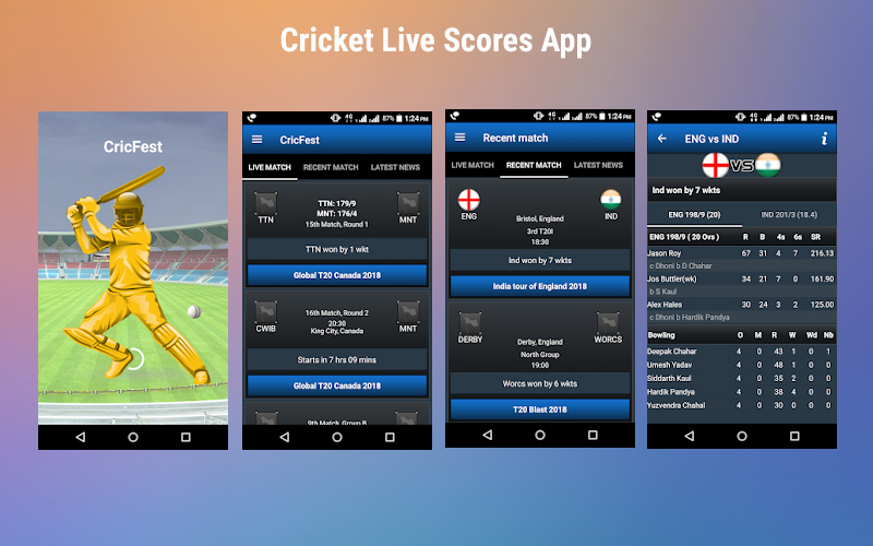 Cricket Live Scores App for Android | Cricket Sport APK Application