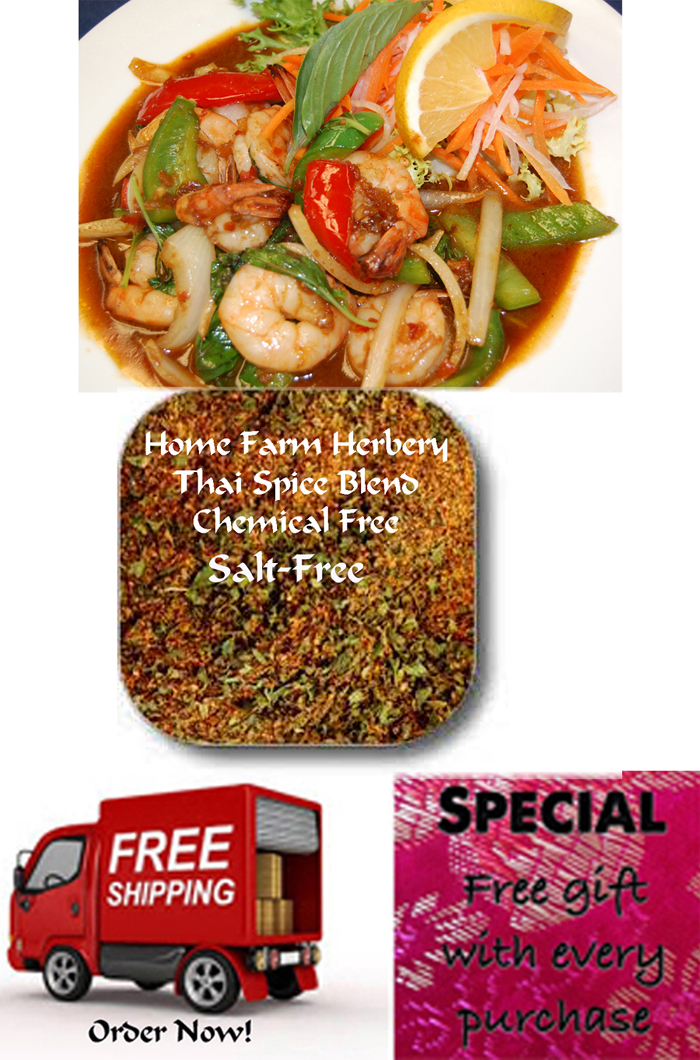 Thai Spice Blend, Salt-FREE, Order now, FREE shipping & get a Free gift