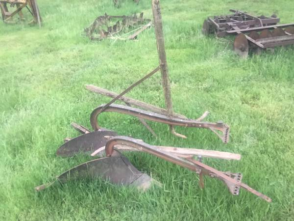 Two-one bottom horse drawn plow