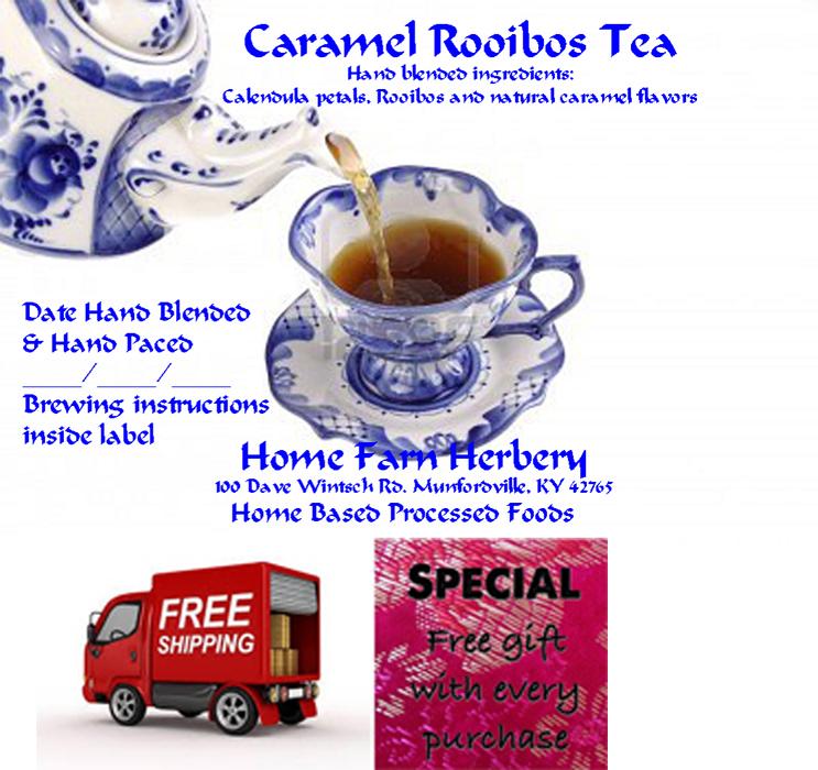 Caramel Rooibos Tea, Order now, FREE shipping & a free gift