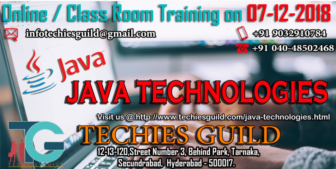 Java technologies training in Hyderabad