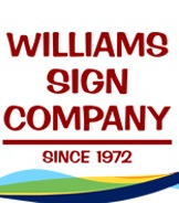 Professional Signage service and Williams Sign