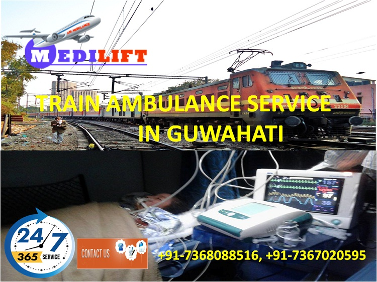 Hired Economical Fare Train Ambulance Service in Guwahati by Medilift