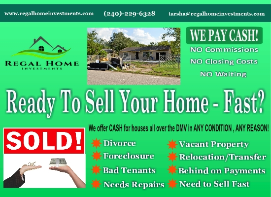 Let Us Solve Your Real Estate Needs in Fort Dupont, DC!  Any condition!