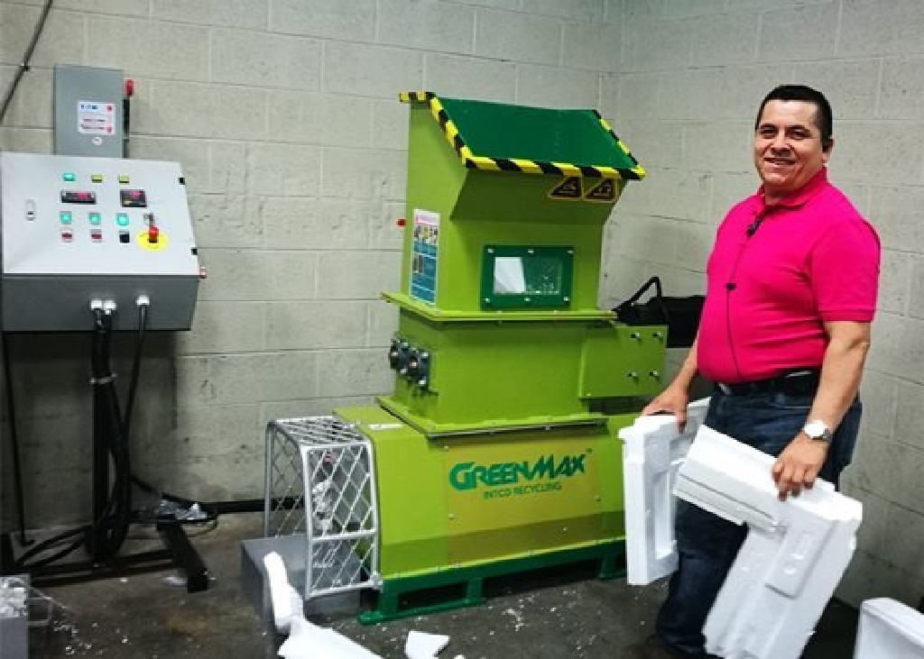 Excellent styrofoam recycling machine GREENMAX Mars C200