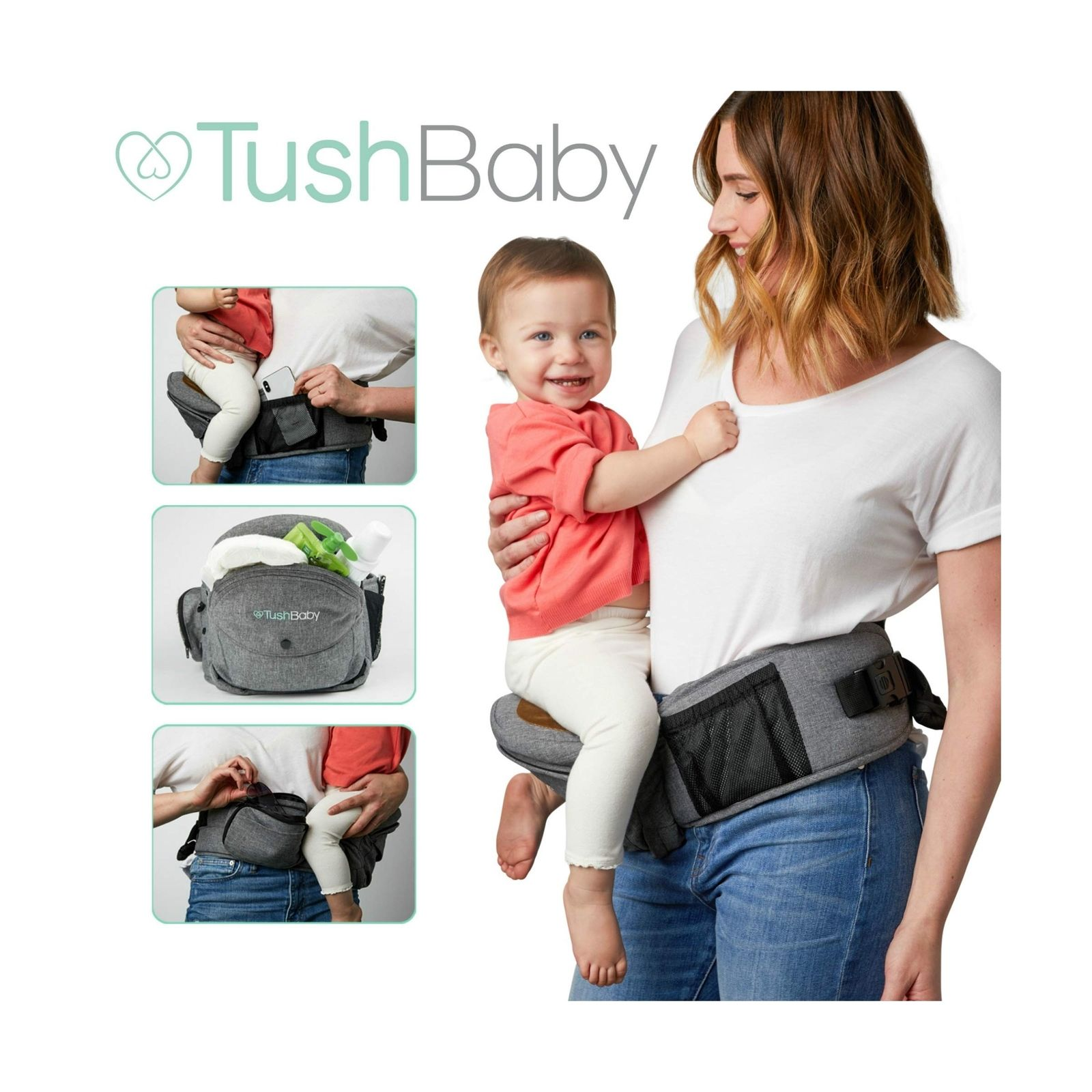 Baby Carrier Hip Seat TushBaby