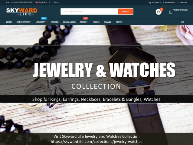 Skyward Life Store - Jewelry and Watches Collections