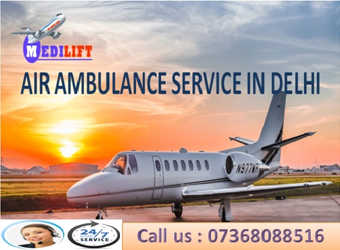 Reliable and Full Medical Support Air Ambulance Services in Delhi