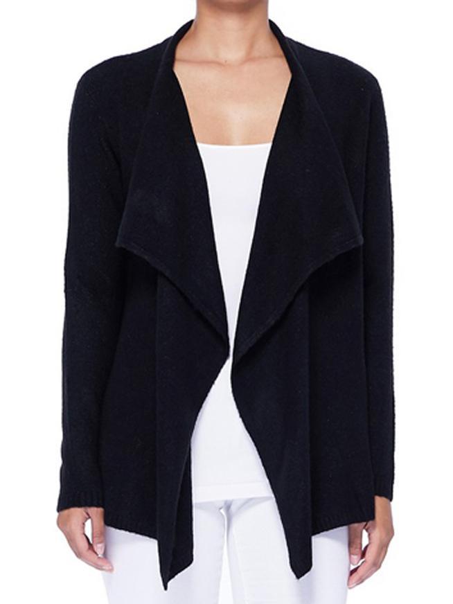 Yemak Sweater   Women's Open Front Long Sleeve Draped Stylish Cardigan Sweater MK8218