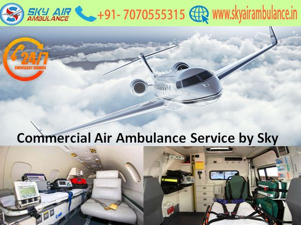 Avail Hi-tech Air Ambulance Service in Gorakhpur by Sky