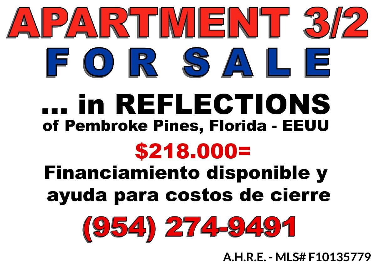 For Sale - Apartment 3/2, Florida, USA