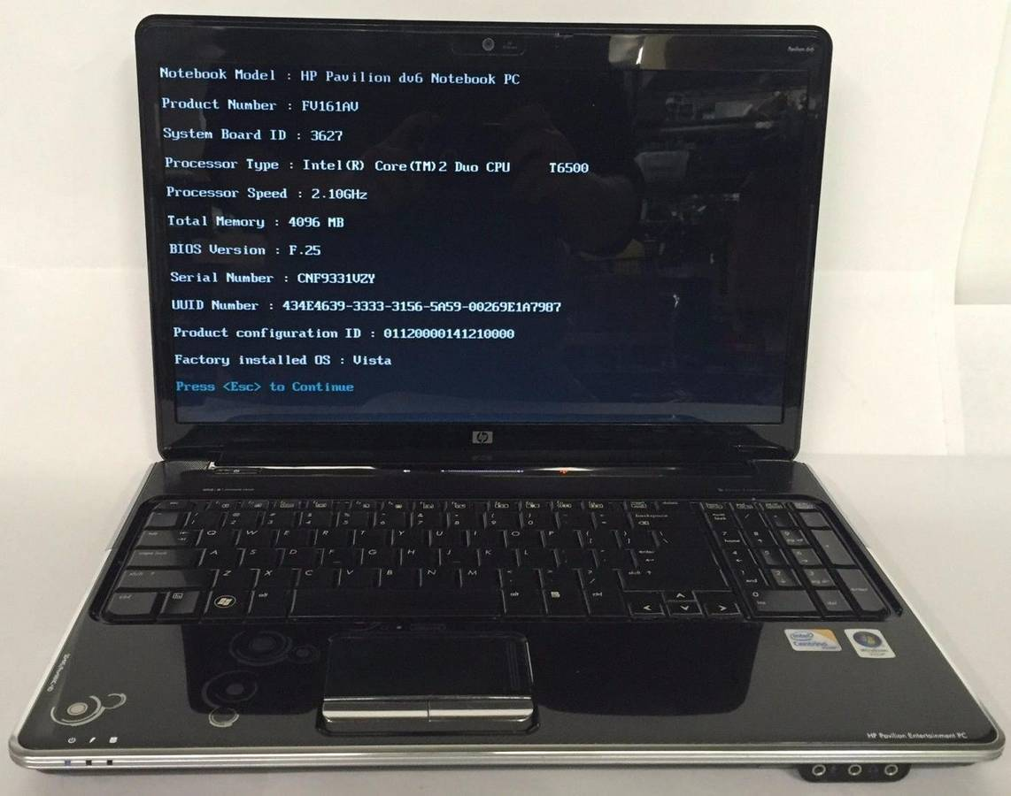 HP Pavilion dv6 15.6in. (2.1GHz, 2GB) Laptop, WiFi, Charger, Windows 10
