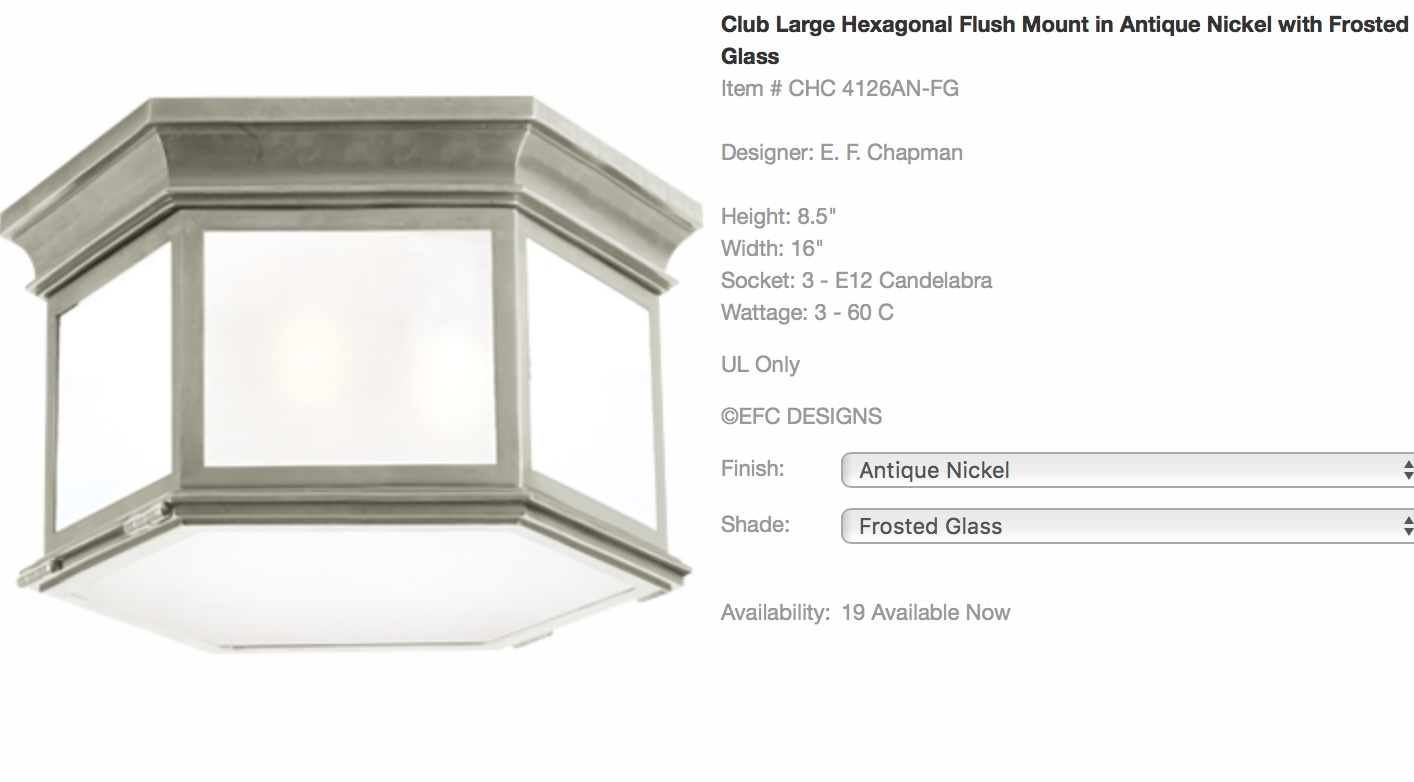 Ceiling Light Fixture by Visual Comfort