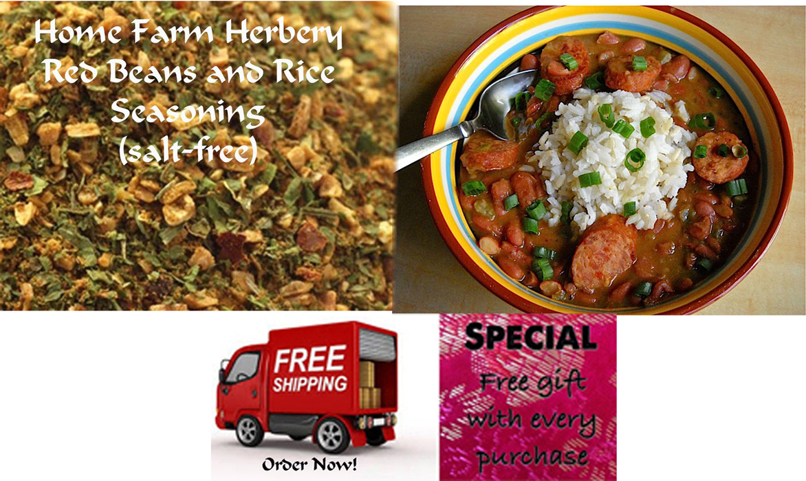 Order our best Red Beans and Rice Seasoning, FREE shipping + a free gift!