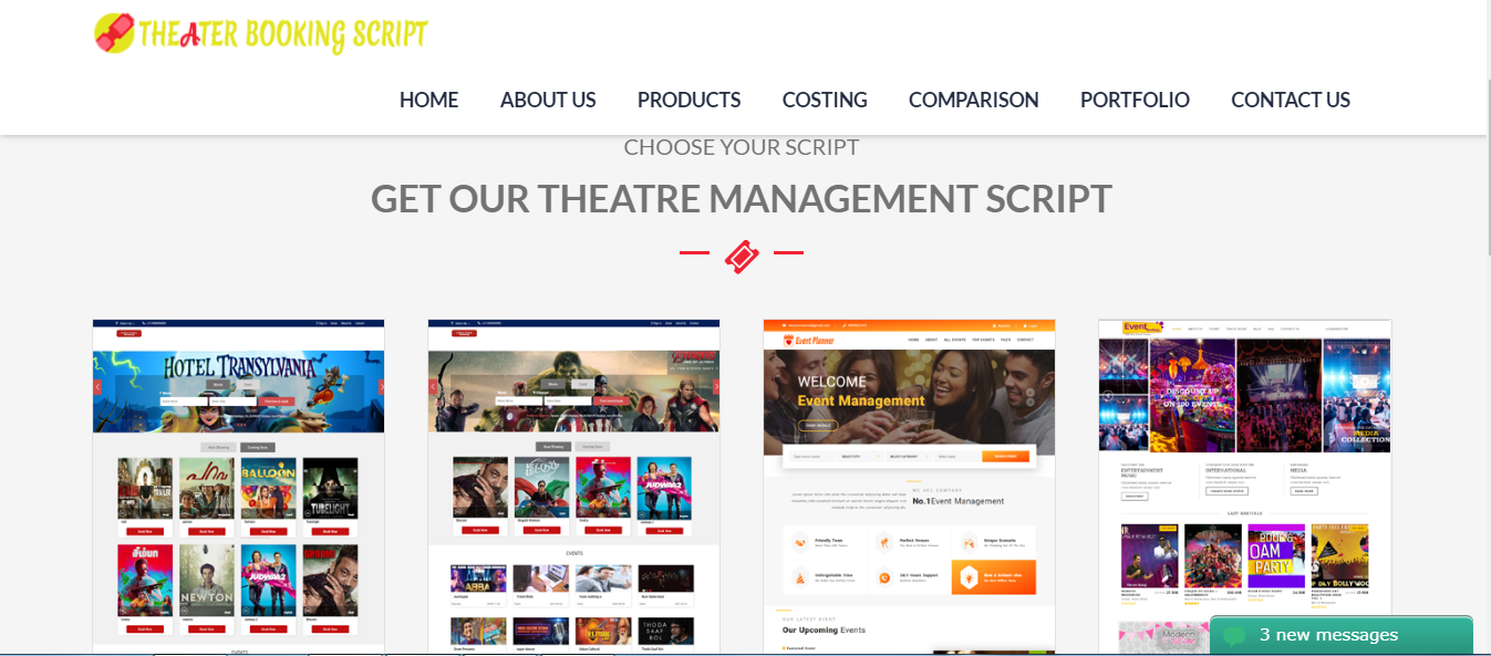 Online Movie Ticket Booking Portal | Theater Management Software