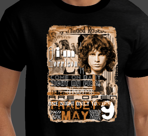 RARE - The Doors Jim Morrison Rock European band BRAND NEW Concert T-shirts