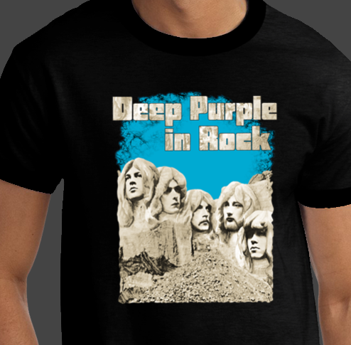 DEEP PURPLE In Rock MT. Rushmore European RARE Brand New Rock Concert T-shirts