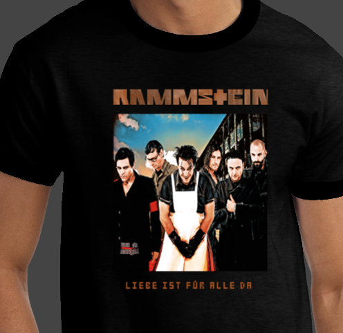 RAMMSTEIN Group German Band Photo Brand New European Heavy Metal Concert T-shirts