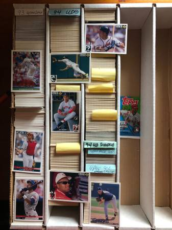8,000 Upper Deck & Topps Baseball Cards - $20