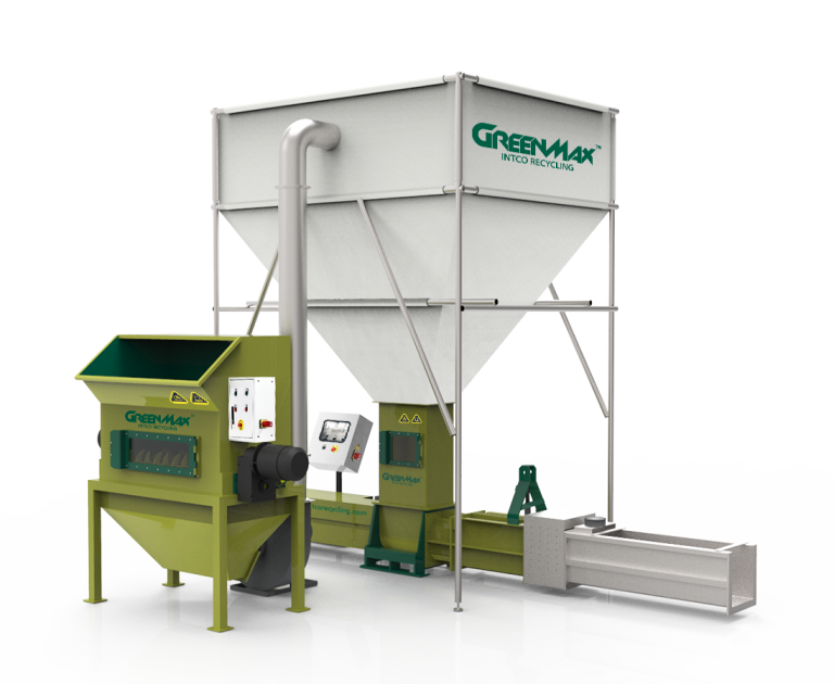 PE foam waste recycling compactor GreenMax ZEUS C300