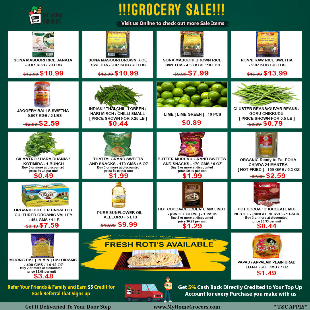 Grocery Sale Online Farmers Branch,Texas - MyHomeGrocers