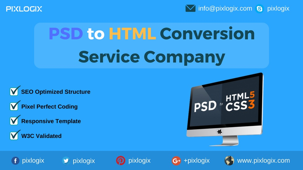 Convert PSD to HTML @ Award-winning Web Design and Development Company
