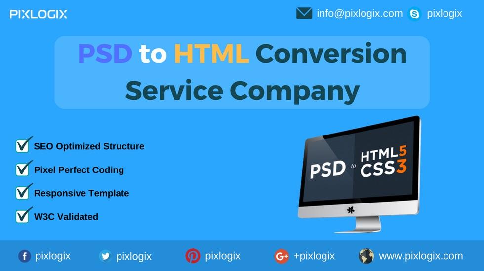 Convert PSD to HTML @ Award-winning Web Design and Development Company