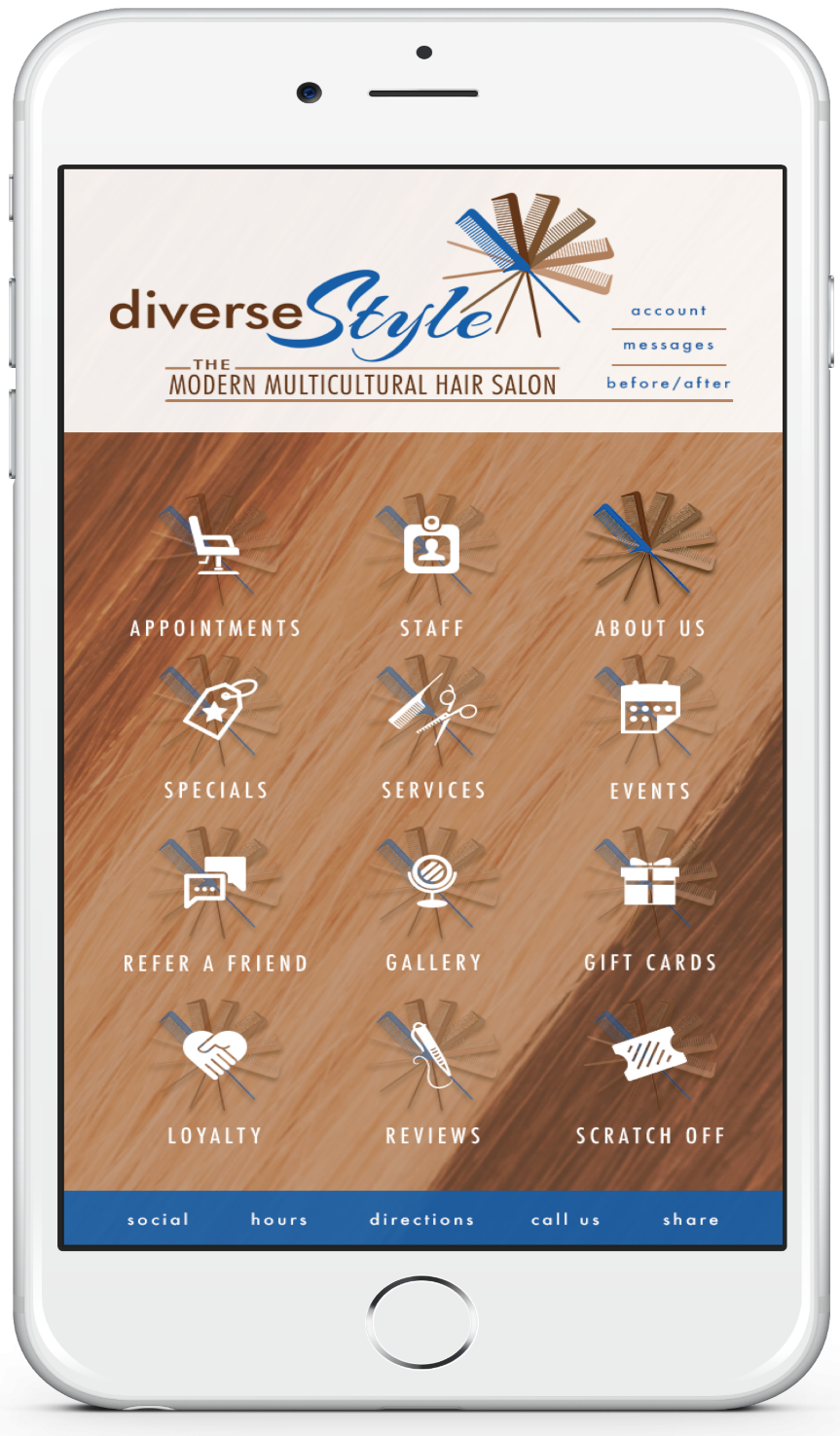 In Princeton Diverstyle Salon provides Mobile App to Book Haircut online