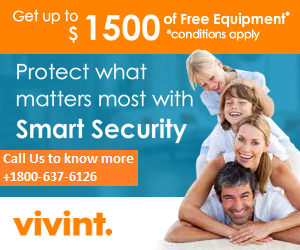 VIVINT 1800-637-6126 $0 ACTIVATION FEE AND FREE INSTALLATION