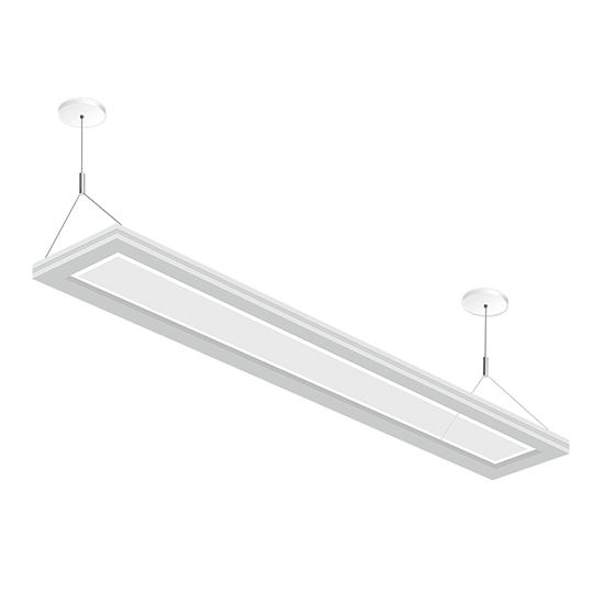 Suspended up and down led linear lighting