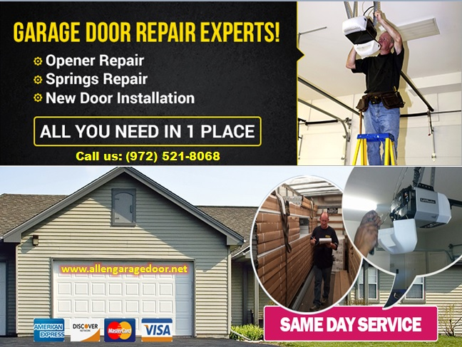 #1 Garage Door Rolling Gate and Roll Up Door Repairs Services ($25.95) Allen |Dallas, 75071, TX