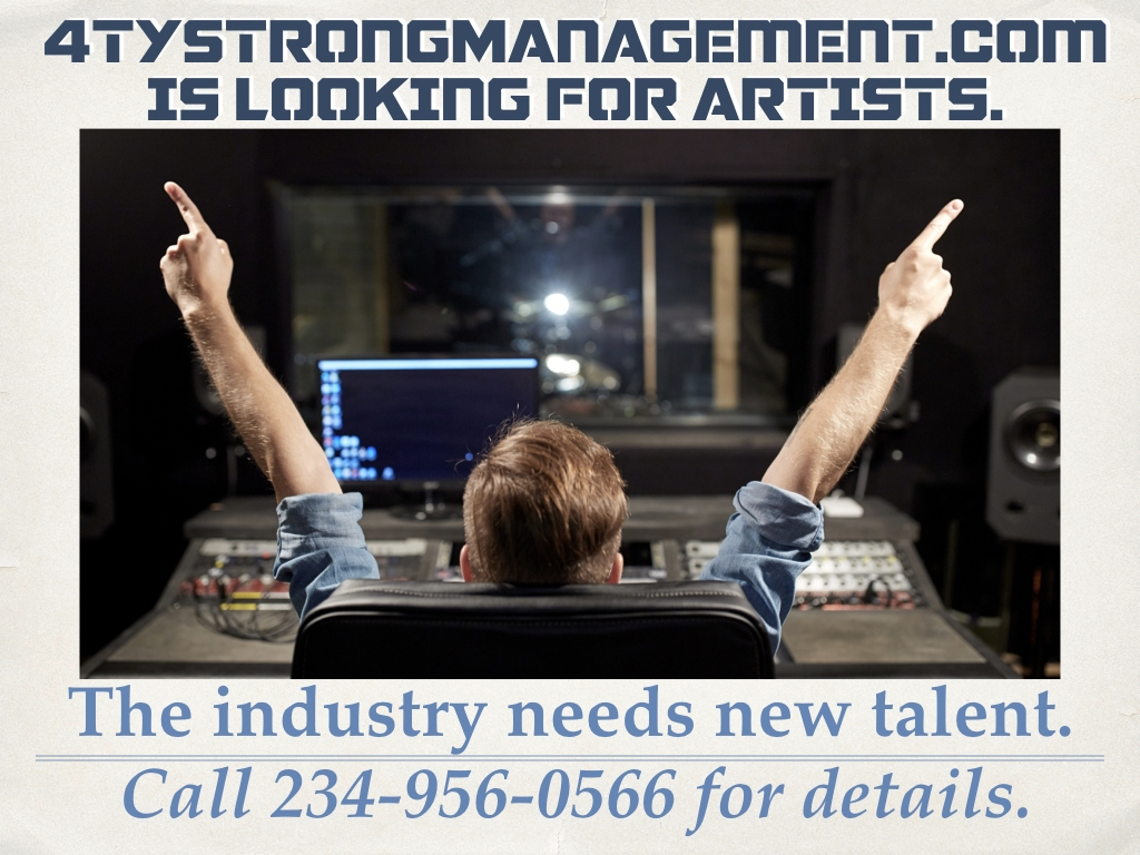 Artist wanted for 4tystrongmanagement.com