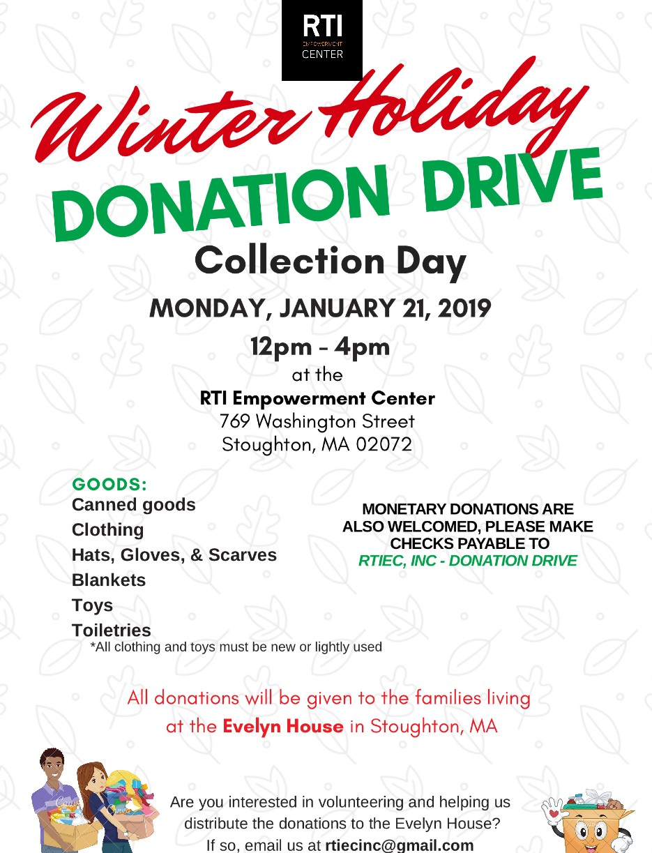 Winter Holiday Donation Drive - Collection Day
