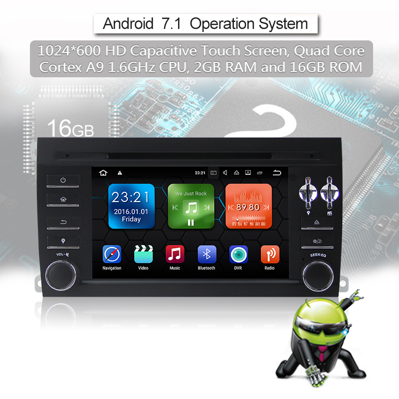 Android 7.1 Quad-core 2G RAM 16G flash Car DVD Player Radio für Porsche Cayenne(2004-2012)