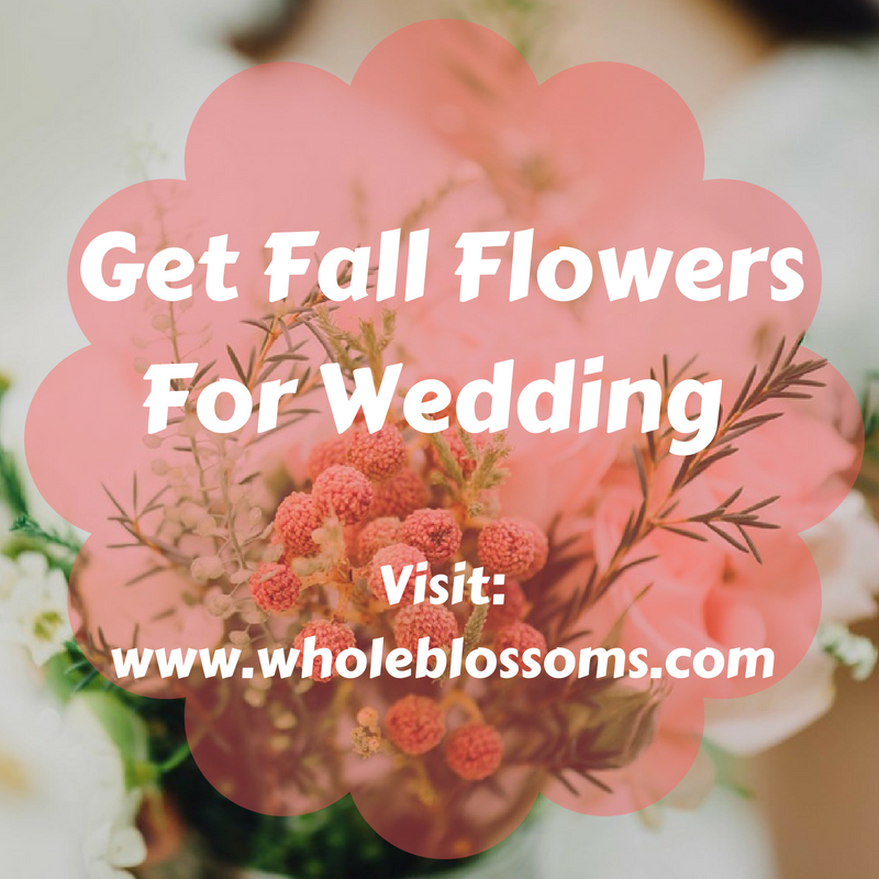 Best Deal on Fall Flowers For Wedding