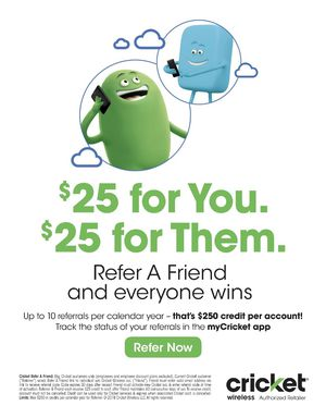 EARN UP TO $250 PER YEAR WITH CRICKET WIRELESS TAYLOR!!!!