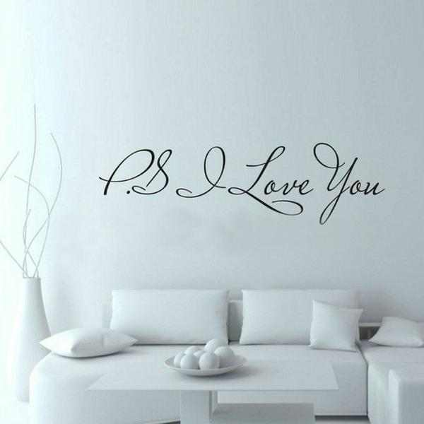 """PS I Love You""  Wall Art Decal Home Decor"