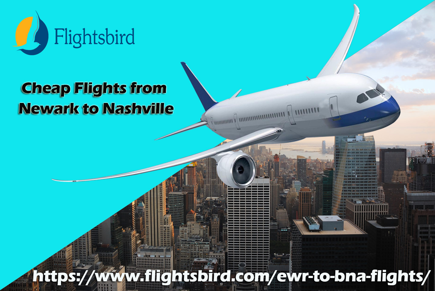 Find cheap flights from Newark (EWR) to Nashville (BNA)