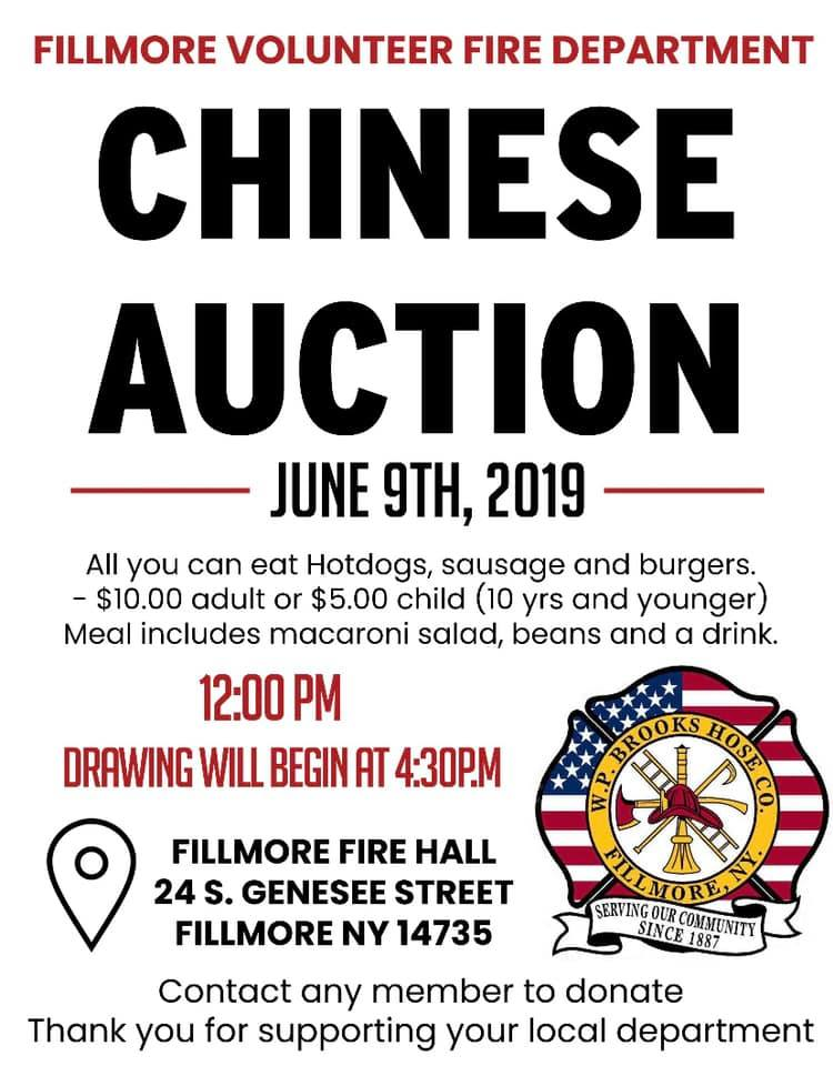 Fillmore Fire Department Chinese Auction