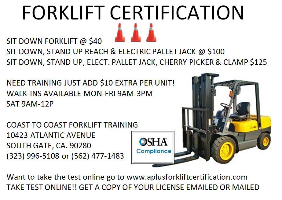 Forklift License and