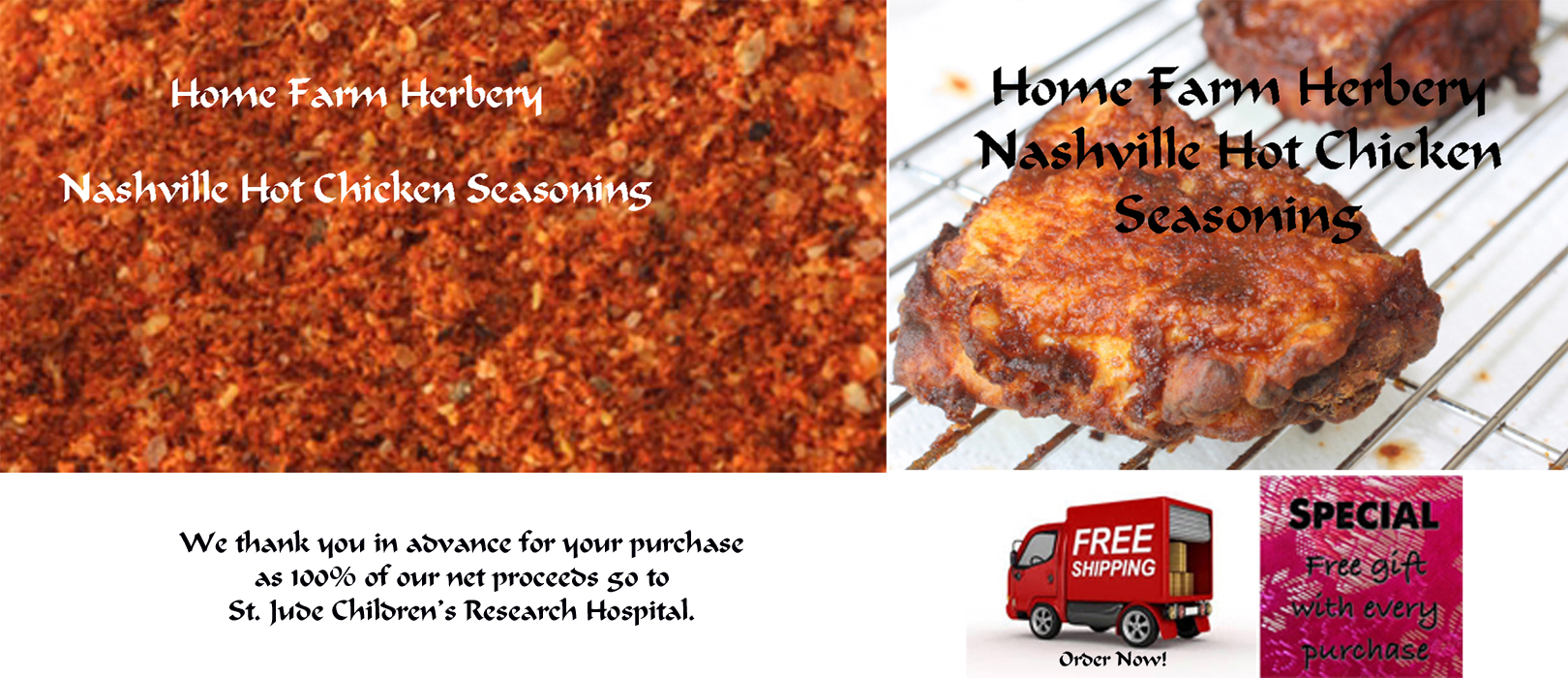 FREE gift when you Order Nashville Hot Chicken Seasoning now + free shipping!